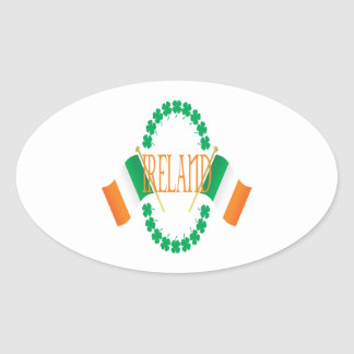 Irlanda Pegatina De Oval Personalizadas