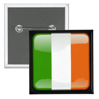 Irlanda pulió la bandera pin cuadrado