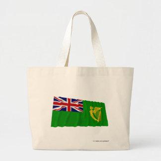 Irlanda que agita la bandera verde bolsas