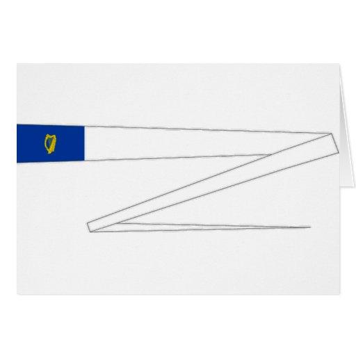 Irlanda que compite con la bandera tarjeta de felicitación