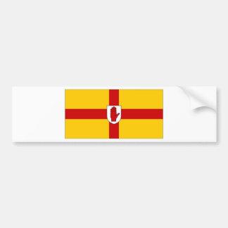 Irlanda Ulster señala por medio de una bandera Etiqueta De Parachoque