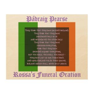 Irlanda Unfree nunca estará en la paz Cuadros De Madera