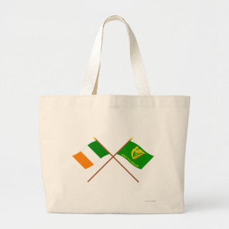 Irlanda y Erin cruzados van las banderas de Bragh Bolsa
