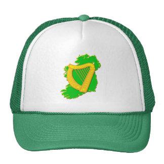 Irlanda y la arpa irlandesa gorra