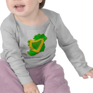 Irlanda y la arpa irlandesa camisetas