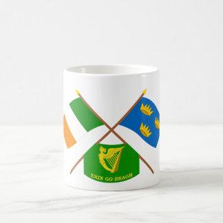 Irlanda y Munster cruzados ProvinceFlags w Erin Tazas De Café
