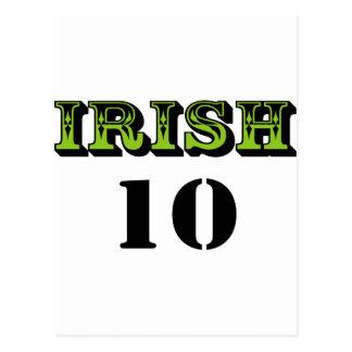 ¡Irlandés 10! ¡Diseño fresco de Patricks del Postal
