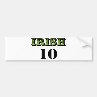 ¡Irlandés 10! ¡Diseño fresco de Patricks del santo Pegatina De Parachoque