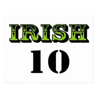 ¡Irlandés 10! ¡Diseño fresco de Patricks del Tarjeta Postal