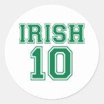 Irlandés 10 pegatina redonda