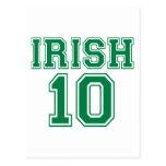 Irlandés 10 postal