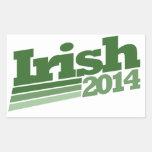 Irlandés 2014 rectangular pegatinas