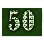 Irlandés 50.o felicitacion