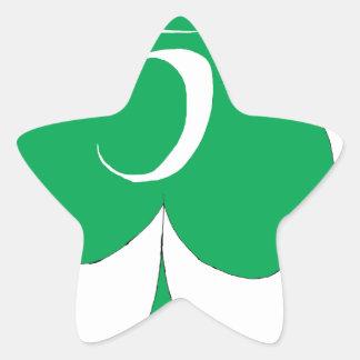Irlandés afortunado 5 de los clubs, fernandes tony pegatina en forma de estrella