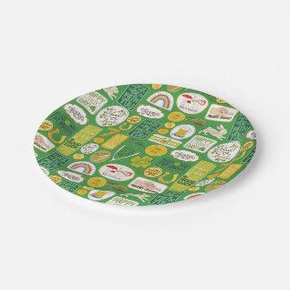 Irlandés afortunado de la suerte plato de papel 17,78 cm