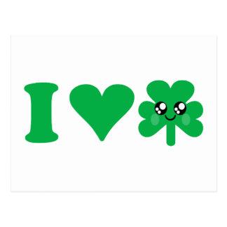 Irlandés afortunado del amor del trébol del tarjeta postal