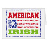 Irlandés americano felicitación