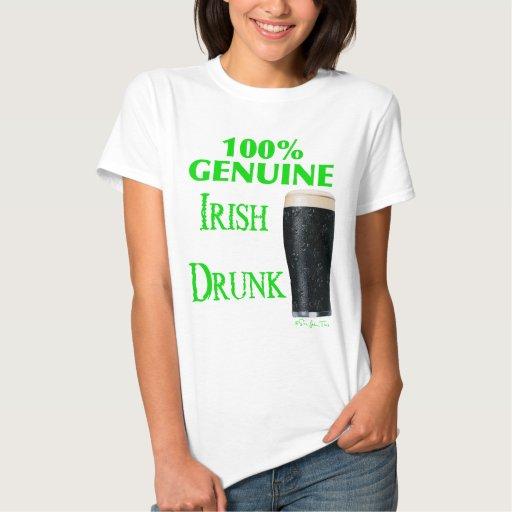 Irlandés auténtico bebido t shirts