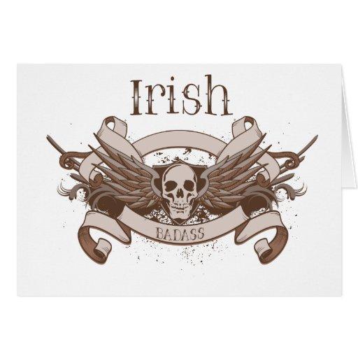 Irlandés Badass Tarjeta De Felicitación