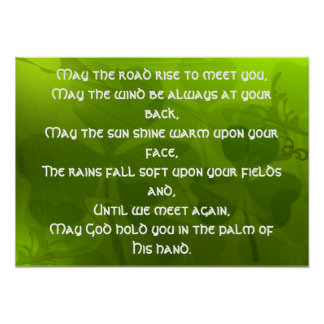 Irlandés Bendición-Mayo la subida t del camino… - Impresiones
