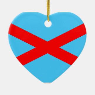 Irlandés Blueshirts, bandera de Colombia Adorno De Cerámica En Forma De Corazón