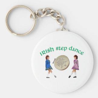 Irlandés Bodhran - danza irlandesa del paso Llavero Redondo Tipo Pin