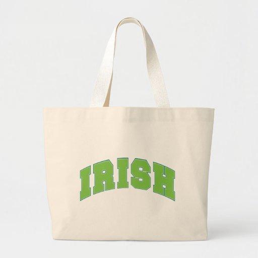 Irlandés Bolsa Tela Grande