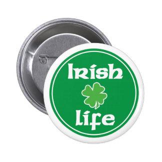 Irlandés botón de 4 vidas pins