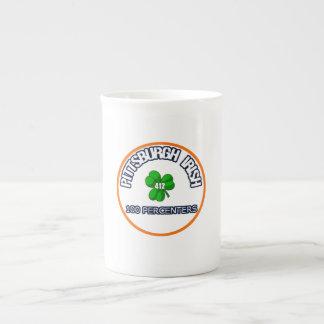 Irlandés China de Pittsburgh Taza De Porcelana