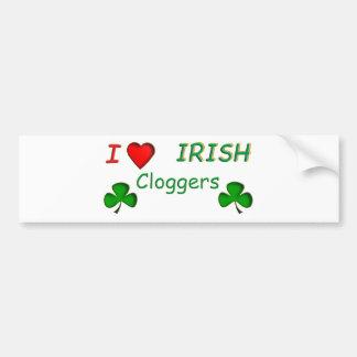 Irlandés Clogger del amor Etiqueta De Parachoque