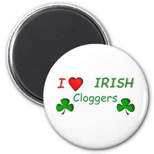 Irlandés Clogger del amor Imán Redondo 5 Cm