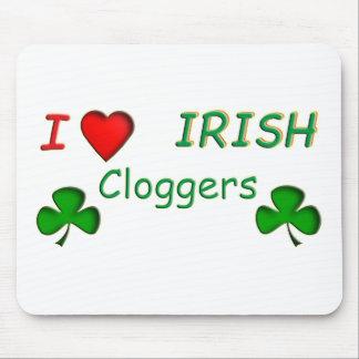 Irlandés Clogger del amor Tapetes De Ratón