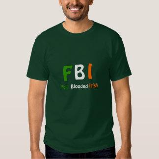 Irlandés completo de Blooded del ~ del FBI Camisas
