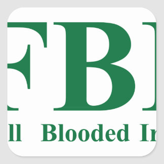 Irlandés completo de Blooded Pegatina Cuadrada