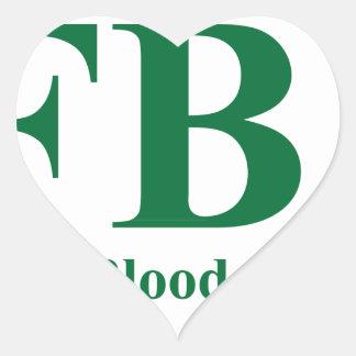 Irlandés completo de Blooded Pegatina En Forma De Corazón