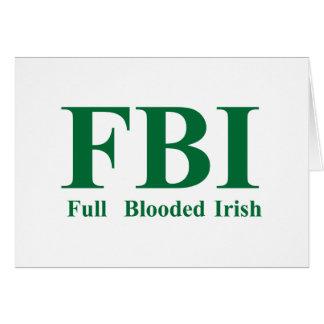 Irlandés completo de Blooded Tarjeta De Felicitación