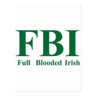 Irlandés completo de Blooded Tarjetas Postales