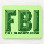 Irlandés completo Mousepad de Blooded Alfombrillas De Ratones
