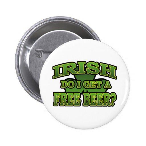 Irlandés consigo un botón libre de la cerveza pins