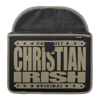 IRLANDÉS CRISTIANO - dios ama Celtic Warriors Funda Macbook Pro