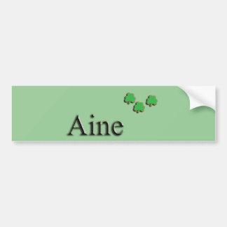 Irlandés de Aine Pegatina De Parachoque