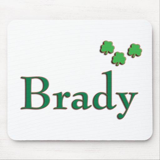 Irlandés de Brady Alfombrillas De Ratón