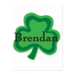 Irlandés de Brendan Tarjeta Postal