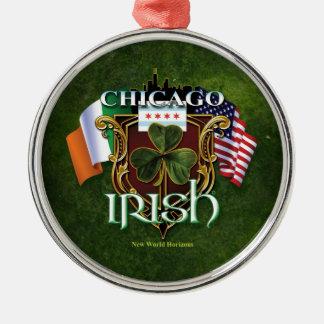 Irlandés de Chicago Adorno Redondo Plateado