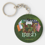 Irlandés de Chicago Llaveros Personalizados