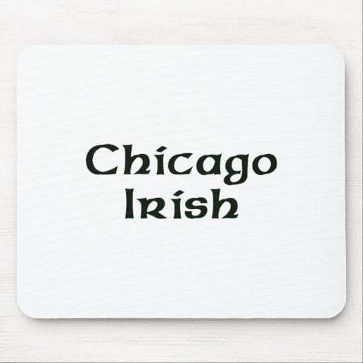 Irlandés de Chicago Tapetes De Ratón
