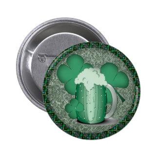 Irlandés de consumición de la cerveza verde pin redondo 5 cm