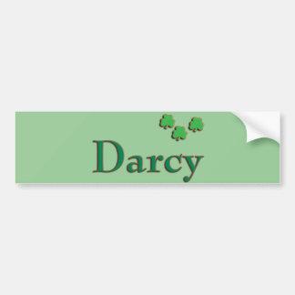 Irlandés de Darcy Pegatina Para Auto