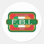 Irlandés de F B I Pegatinas Redondas