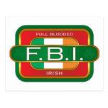 Irlandés de F B I Tarjetas Postales